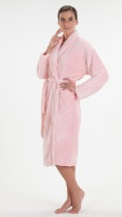 Легкий и пушистый халат из велсофта №800 нежно-розовый