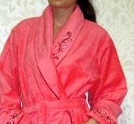 Махровый халат из бамбука (00630)