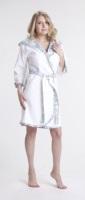 Женский махровый халат Angel (нежно-белый)