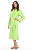 Женский махровый халат 705 салатовый