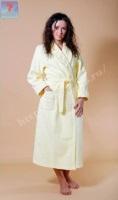 Женский махровый халат 700 Желтый