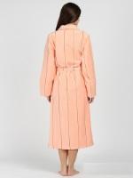 Женский махровый халат 705 персик