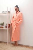 Женский махровый халат 701 Персик