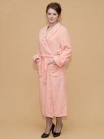 Женский махровый халат 700 Персик