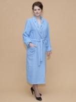 Женский махровый халат 700 Голубой