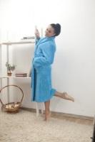 Женский халат из велсофта № 800 бирюза