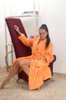 Женский халат из велсофта № 800 персик