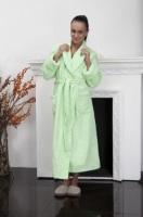Женский махровый халат 701 Салатовый