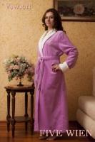 Удлиненный махровый халат VIEW (Lila-лиловый)