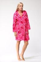Женский халат из велсофта № 801 малиновый
