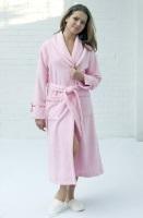 Женский махровый халат TRIGA(фламинго)