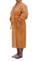 Классический махровый халат - Весенний листик