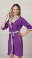 Бамбуковый халат из легкой махры ТОКИО (лиловый)