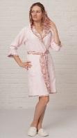 Бамбуковый халат из легкой махры ТОКИО (нежно-розовый)