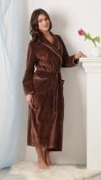 Благородный велюровый халат Cappucchino шаль(802)