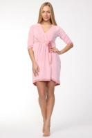 Шикарный велюровый халат (714 нежно-розовый)