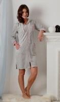 Женский велюровый халат Cats(385-1)