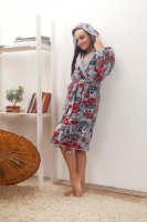 Женский велюровый халат 384-2 Lovely