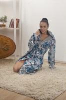 Женский велюровый халат 384-3 Lovely
