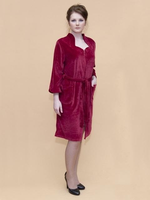 Велюровый халат № 376-2