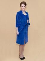 Велюровый халат № 376-3