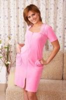 Женский велюровый халат 352 розовый