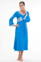 Изысканный халат Кружева (712 голубой)