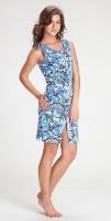 Легкий халат (1004 голубые цветы)