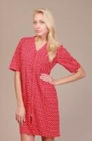 Трикотажный халат 509 (красный горох)