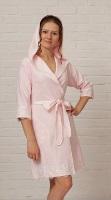Бамбуковый халат с кружевом - Анжелика