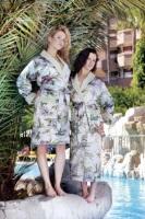 Женский шелковый халат NUSA 9015-015
