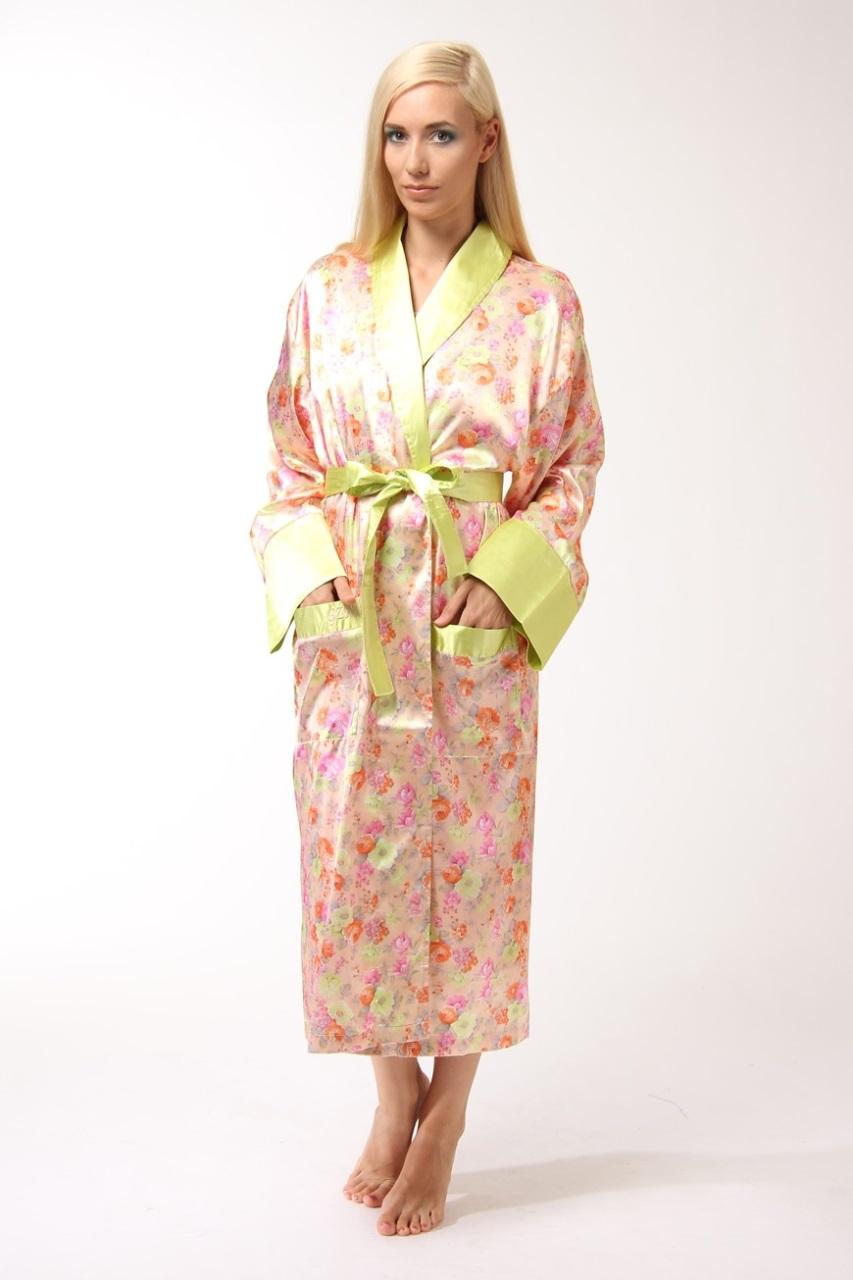 Женский шелковый халат 3