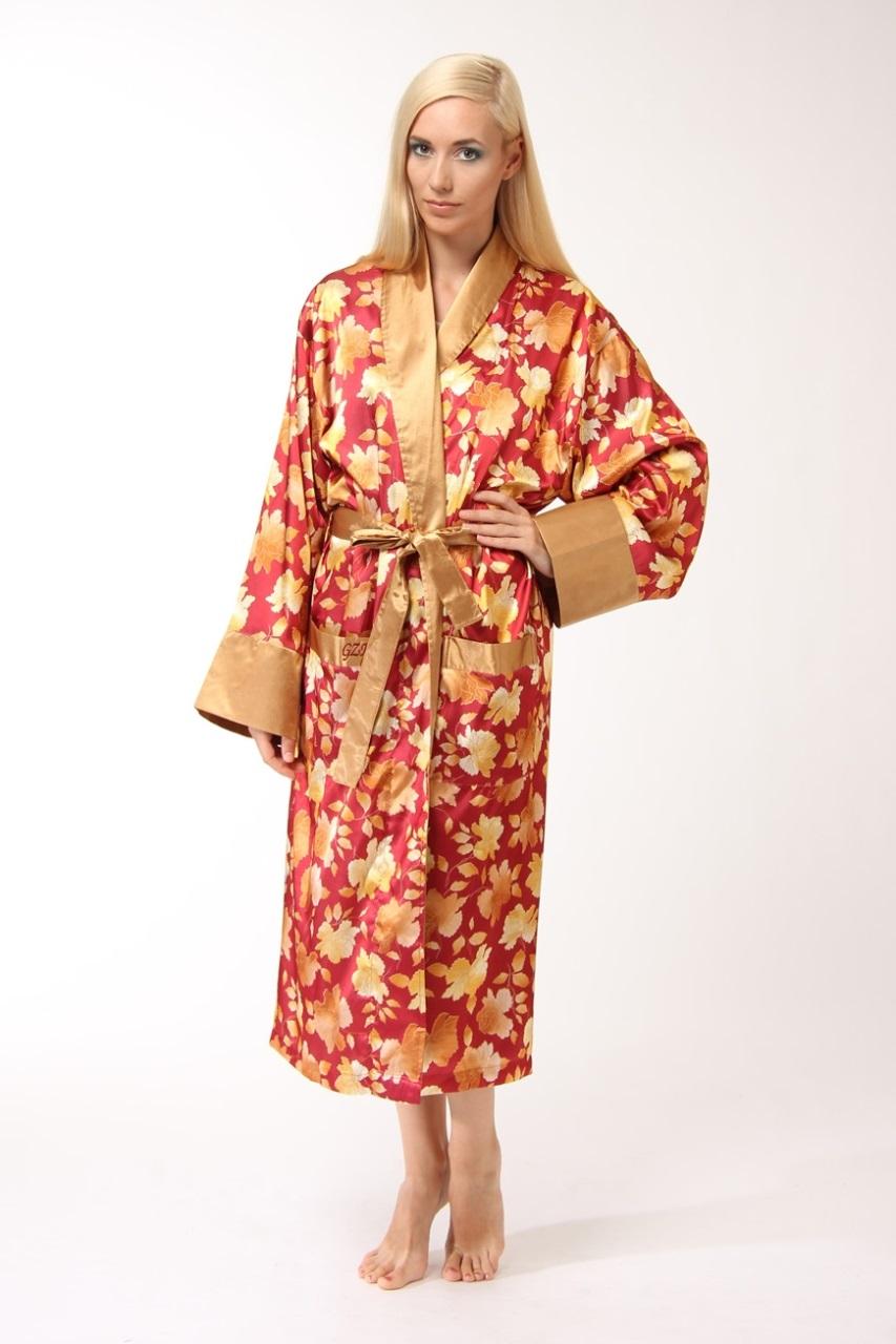 Женский шелковый халат 5