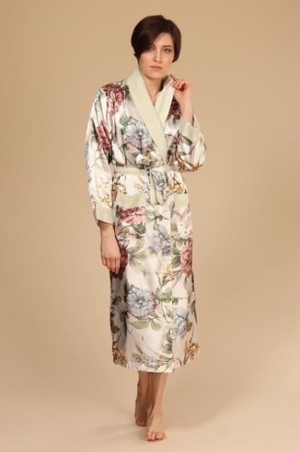 Женский шелковый халат NUSA 9015-0151