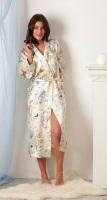 Женский халат из натурального шелка Peche Monnaie Butterfly