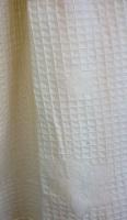 Вафельный халат с кружевом Лилия(нежно-кремовый)