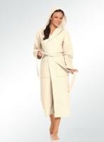 Длинный вфельный халат с капюшоном Venezia