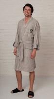 Легкий бамбуковый халат Yacht Club Grey - Супер Хит!