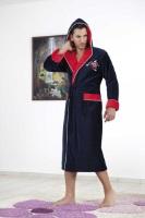 Мужской махровый халат с капюшоном NS 7130 DRAGON TEAM