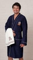 Легкий бамбуковый халат Yacht Club Blue - Супер Хит!