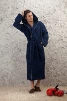 Мужской махровый халат с капюшоном - Ночное небо(№901)