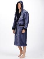 Мужской махровый халат с капюшоном NS 7080 EAGLE