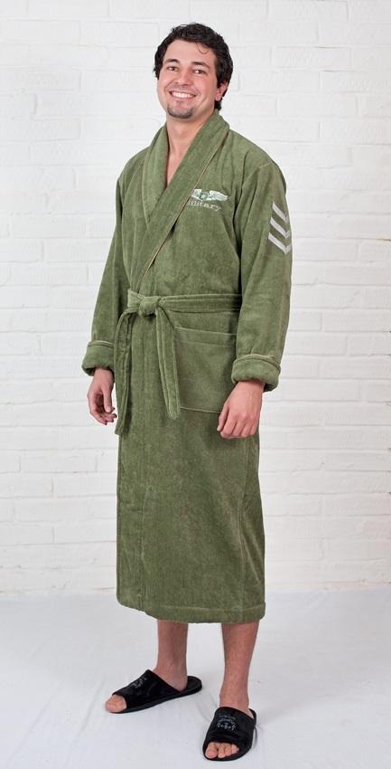 Мужской махровый халат MILITARY