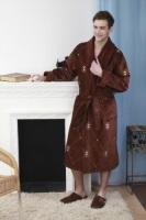 Мужской махровый халат BRODE шоколад
