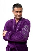 Мужской махровый халат DRAKON (ультрамарин)