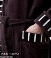 Мужской махровый халат POLO PERVAZ shokolad