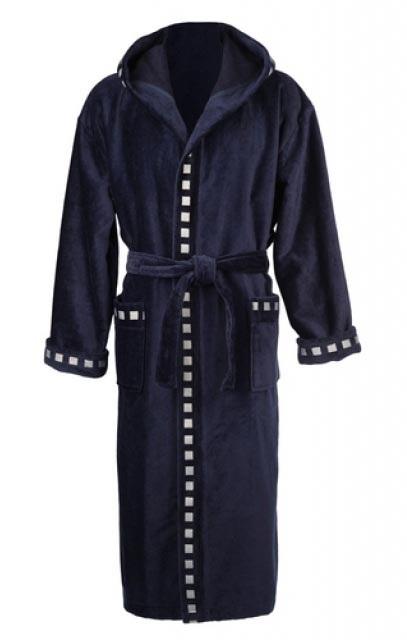 Мужской махровый халат POLO PERVAZ dark blue