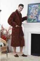 Мужской махровый халат RAIN шоколад
