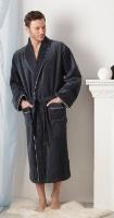 Мужской махровый халат STYLE (темно-серый)