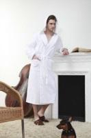Мужской махровый халат с капюшоном (№901)